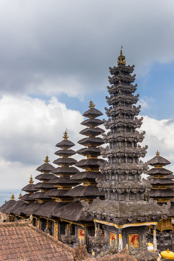 Towers of the Besakih temple on Bali